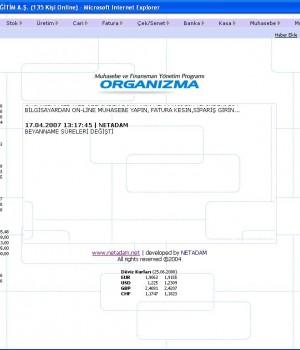 Organizma Web Muhasebe Programı Ekran Görüntüleri - 1