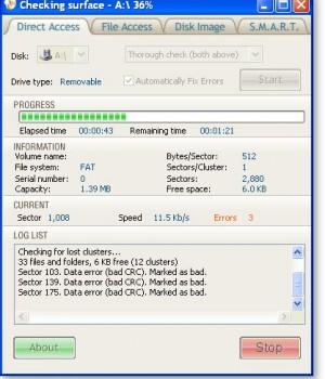 Disk Checker Ekran Görüntüleri - 1