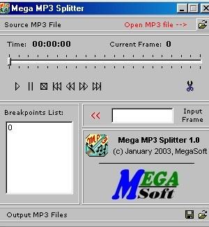Mega MP3 Splitter Ekran Görüntüleri - 1