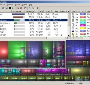 WinDirStat Ekran Görüntüleri - 1