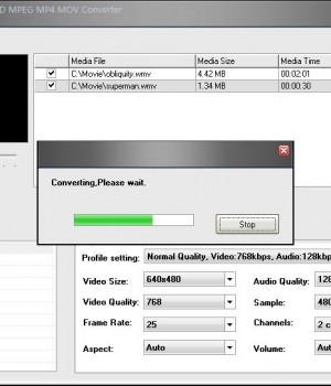 A123 MOV to AVI WMV DVD MPEG MP4 MOV Converter Ekran Görüntüleri - 1