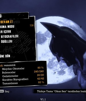 Batman: Arkham Asylum Türkçe Yama Ekran Görüntüleri - 1