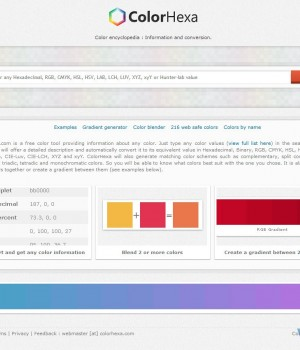 ColorHexa Ekran Görüntüleri - 6