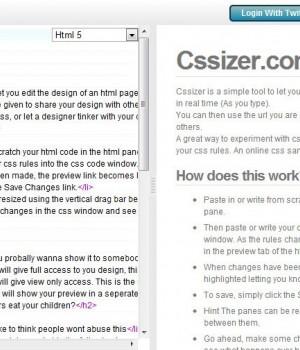 Cssizer.com Ekran Görüntüleri - 1