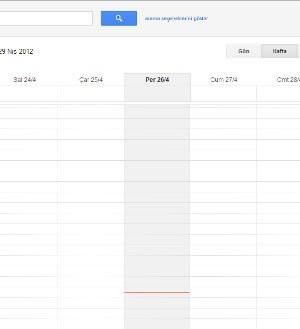 Google Takvim Ekran Görüntüleri - 1