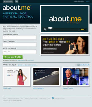 About.me Ekran Görüntüleri - 4
