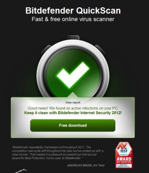 Bitdefender QuickScan Ekran Görüntüleri - 1