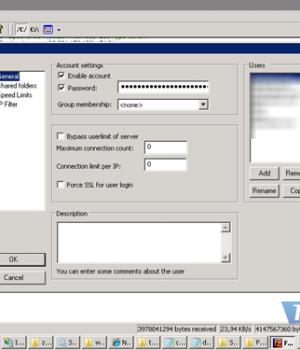FileZilla Server Ekran Görüntüleri - 1