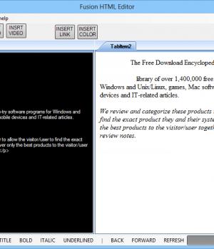 Fusion HTML Editor Ekran Görüntüleri - 1