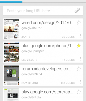 Google URL Shortener Ekran Görüntüleri - 2