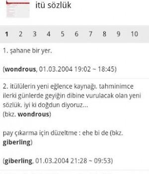 İTÜ Sözlük Mobil Ekran Görüntüleri - 2