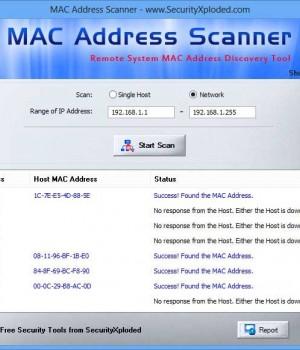 MAC Address Scanner Ekran Görüntüleri - 1