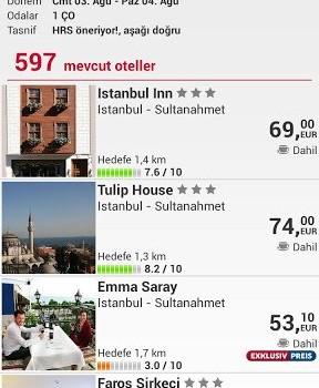 Otel arama HRS Ekran Görüntüleri - 2