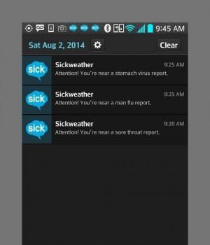 Sickweather Ekran Görüntüleri - 1