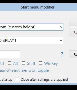 Start Menu Modifier Ekran Görüntüleri - 1