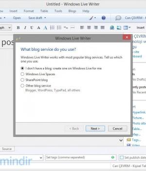 Windows Live Writer Ekran Görüntüleri - 1