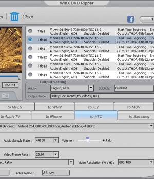 WinX DVD Ripper Ekran Görüntüleri - 1
