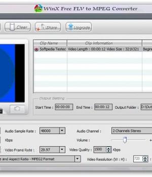 WinX FLV to MPEG Video Converter Ekran Görüntüleri - 1