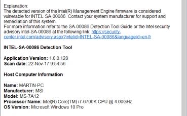 Intel-SA-00086 Detection Tool