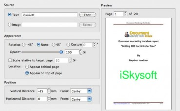 iSkysoft PDF Editor for Mac