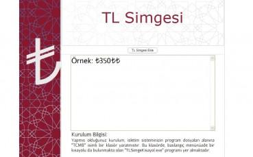 TL Simgesi Kurma Programı