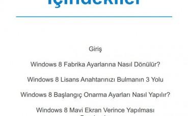Windows 8'de Yaşanan Sorunlar ve Çözümleri