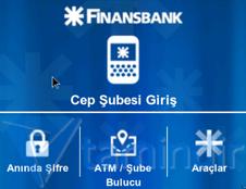 Finansbank Cep Şubesi Ekran Görüntüleri