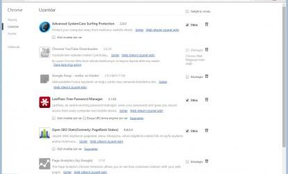 Google Chrome Ekran Görüntüleri