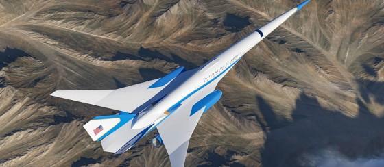 ABD Başkanı'nın Yeni Süpersonik Jeti 2200 km Hızla Uçacak