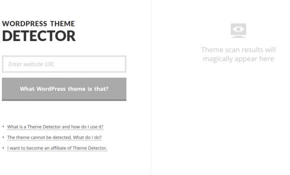 WordPress Theme Detector Ekran Görüntüleri - 1