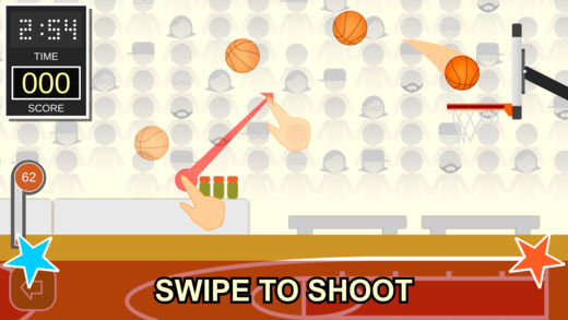 Swipe Shootout: Street Basketball 1 - 1