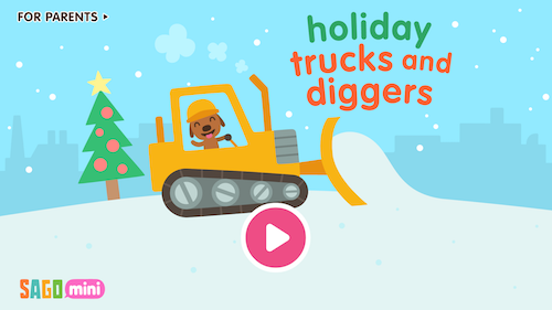 Sago Mini Holiday Trucks and Diggers Ekran Görüntüleri - 1