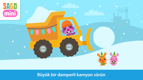Sago Mini Holiday Trucks and Diggers Ekran Görüntüleri - 2