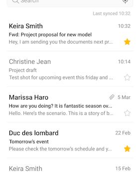 Samsung Email Ekran Görüntüleri - 2