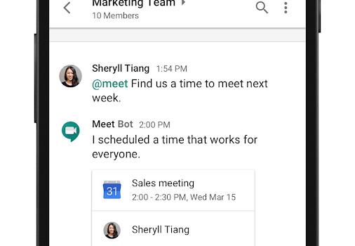 Hangouts Chat Ekran Görüntüleri - 4