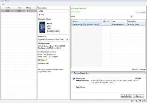 Sony Xperia Flash Tool Ekran Görüntüleri - 1
