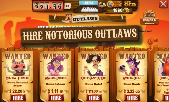 Wild West Idle Tycoon Tap Incremental Clicker Game Ekran Görüntüleri - 2