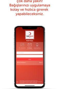 Türk Kızılayı Mobil Bağış Ekran Görüntüleri - 1