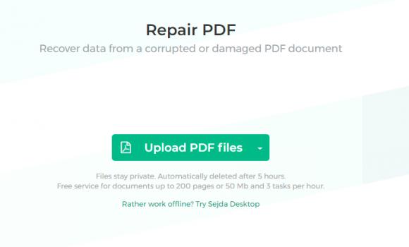 Sejda Repair PDF Ekran Görüntüleri - 1