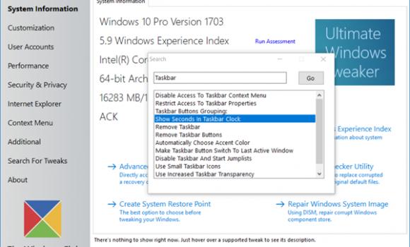 Ultimate Windows Tweaker 4 Ekran Görüntüleri - 1