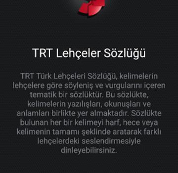 TRT Türk Lehçeleri Sözlüğü Ekran Görüntüleri - 5