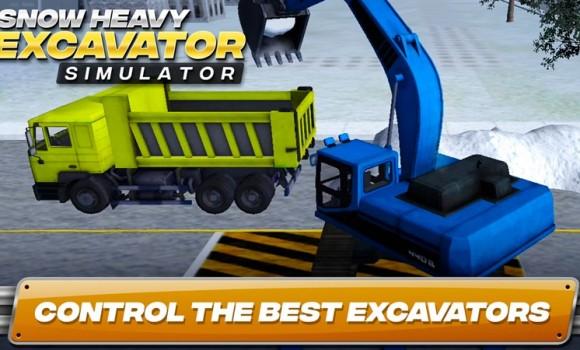 Snow Heavy Excavator Simulator Ekran Görüntüleri - 1