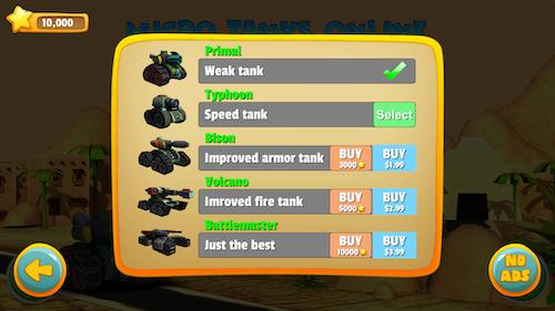 Micro Tanks Online Ekran Görüntüleri - 3