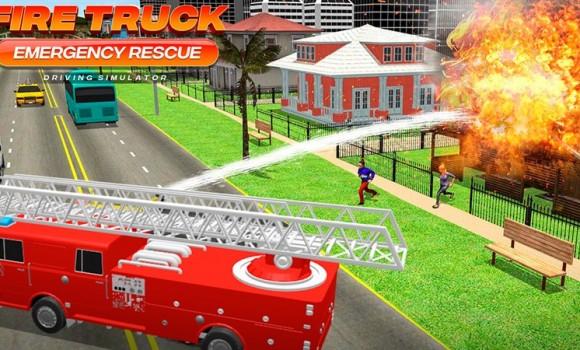 Fire Truck Emergency Rescue Ekran Görüntüleri - 3