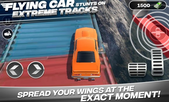 Flying Car Stunts On Extreme Tracks Ekran Görüntüleri - 1