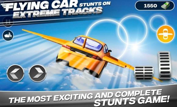 Flying Car Stunts On Extreme Tracks Ekran Görüntüleri - 2
