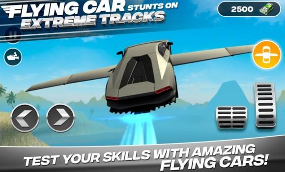 Flying Car Stunts On Extreme Tracks Ekran Görüntüleri - 3