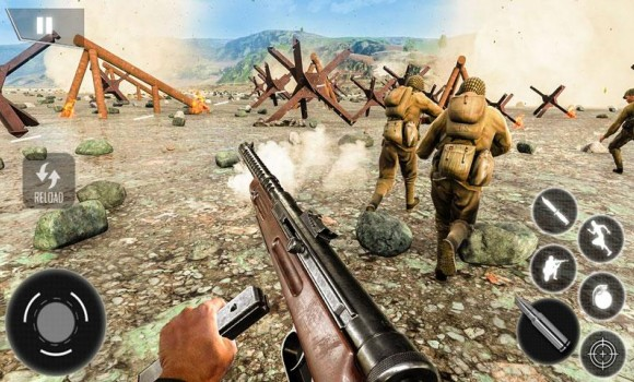 World War II Survival: FPS Shooting Game Ekran Görüntüleri - 2