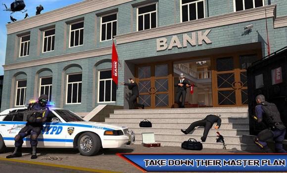 NY Police Battle Bank Robbery Gangster Crime Ekran Görüntüleri - 2
