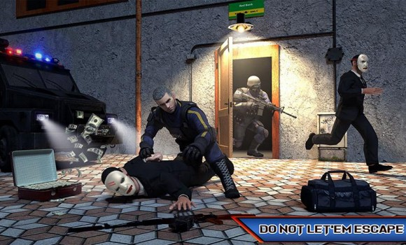 NY Police Battle Bank Robbery Gangster Crime Ekran Görüntüleri - 3